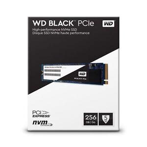 256GB WD Black High Performance SSD M.2 M2 2280 NVMe SSD WDS256G1X0C