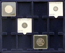 S6 Lighthouse Cargo Coin Case 12 x 50 mm Quadrum Blue Felt Display Trays x 2