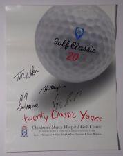 1999 PGA GOLF SIGNED POSTER TOM WATSON LEE TREVINO VIJAY SINGH STEVE ELKINGTON
