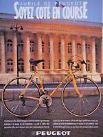 PUBLICITÉ DE PRESSE 1986 VÉLO PEUGEOT SOYEZ COTÉ EN COURSE