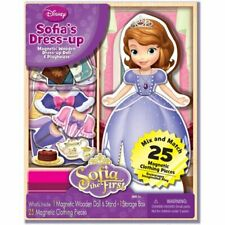 New- Disney Sofia's Dress-Up Magnetic Wooden Dress-Up Doll and Playhouse