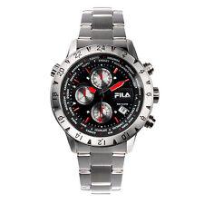 FILA Chronograph 38-007-001 Uhr Herren Armbanduhr Sport Uhren Schwarz Rot
