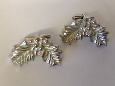Large Holly Leaves Ft69 Cufflinks Made From English Modern Pewter