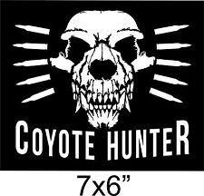 "Coyote Hunter Sticker Dog predator Hunt varmint hunting 7""x6"" cut Vinyl Decal"