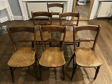 More details for matching set of 6 beech and elm antique rope back kitchen or dining chairs