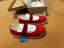 New Umi Alia Shoes Red Canvas Shoes Big Kid Girls Youth Eu 35 Us 3 Flat