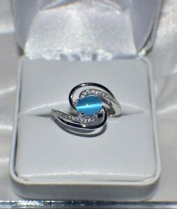 """2.20ct NATURAL OPAL """" CATS EYE""""  GENUINE TOPAZ STATEMENT COCKTAIL GYPSY TRIBAL"""