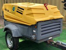 Serviced 2011 Atlas Copco Xas185 Portable Diesel Air Compressor S# Hop037098