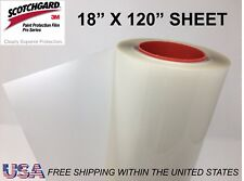 "Paint Protection Film Clear Bra 3M Scotchgard Pro Series 18"" x 120"" Sheet"