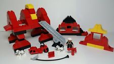 Fire Station #1 Lego DUPLO Firefighter Ladder Hose Dalmatian Motorcycle Extingui
