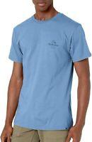 Quiksilver Mens T-Shirt Blue Size Small S Diamond Tails Crewneck Logo Tee 034