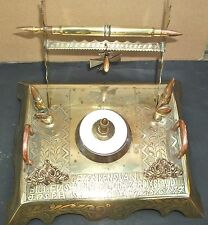 Antique 1st WW German Trench Art Inkwell/Pen rest