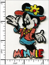 "Colorful ""Minnie"" Mouse/flower Iron On Applique patch"