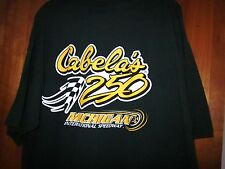 CABELA 250 tee racing T shirt XL Michigan International Speedway NASCAR flag OG
