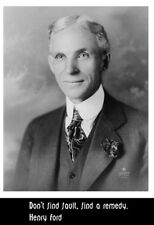 Business giant Henry Ford picture and quote poster print