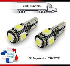 2X VEILLEUSES LAMPE LED W5W T10 ANTI-ERREUR ODB BLANC 6000K XENON 5 SMD