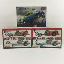 LOT 3 Revell 1/25 Scale Model Car Building Kits Funny Car Roadster Dragster