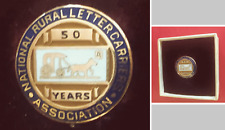 Rare NATIONAL RURAL LETTER CARRIERS ASSOC; 50 year Service Award Pin; Screw-Back