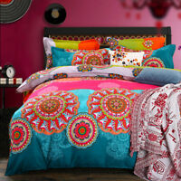 Bohemian Doona Cover Bed Duvet Quilt Cover Set Cotton Bedding Single Queen King