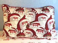 Christmas Vintage Look Santa Claus Tapestry Rectangular Throw Pillow 18� X 12�