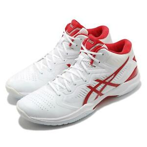Asics Gelhoop V12 White Classic Red Men Basketball Shoes Sneakers 1063A021-102