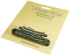 TonePros TP7 Locking 7-STRING Metric Tuneomatic Guitar Bridge, BLACK TP-7