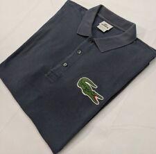 Lacoste Polo Shirt Large Mens Short Sleeve Pique Knit BIG CROC Size EUR Men Sz 6
