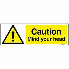 Mind your head Sign 200x60mm Self-adhesive Vinyl Sticker Warning Safety Decal