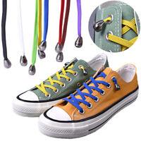 1 Pair 100CM No Tie Lazy Shoelaces Sneaker Elastic Rubber Wild Flat Shoe Laces