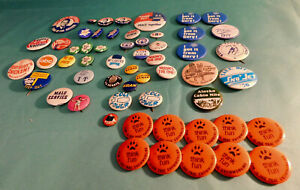 50+ Lot of Vintage  Pinbacks Buttons Alaska, Politics, Sports, Misc