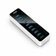 Anker 10-Port USB 3.0 Hub with Charging Port and 60W (12V / 5A) Power Adapter