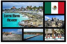COSTA MAYA, MEXICO - SOUVENIR NOVELTY FRIDGE MAGNET (SIGHTS) -  NEW - GIFTS