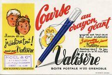 BUVARD PUBLICITAIRE / COURSE AU CRAYON GEANT / VALISERE