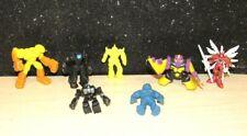 Vintage lot of 7 Robot Monster Figures w/ Rancher T.C.D.T/Power Rangers & More