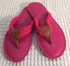 NWOB Lauren Ralph Lauren Edythe Pink Leather Flip Flop Sz 5B
