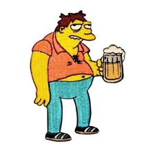 The Simpsons Barney W/ Beer Patch Moe's Bar Duff Embroidered Iron On Applique