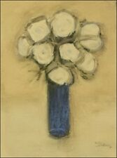 The Blue Vase.....Orginal.....Mixed Media On Paper