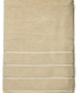 NEW FRETTE Hotel Lanes Border Hand Towel Desert Sand Beige 650 Grams Cotton