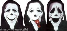 3 Pack Ladies Mens Scary Movie Halloween Face Mask Fancy Dress Costume Accessory