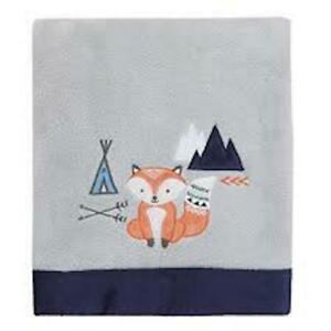 Aztec Super Soft Appliquéd Baby Blanket-Grey