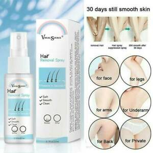 UK 100% Natural Semi-permanent Hair Removal Spray Hair Growth Inhibitor Remover