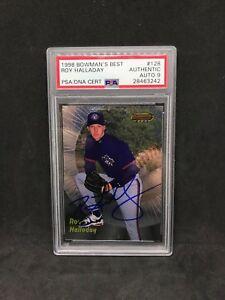 Roy Halladay Signed 1998 Bowman Best #128 Rookie Card PSA/DNA 9 Autograph Auto