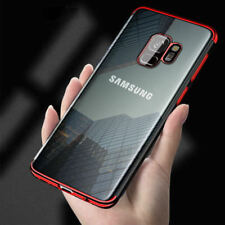 Luxury Plating Clear Rubber Silicone Soft Case Cover For Samsung Galaxy S9 Plus