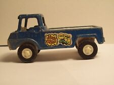Vintage 1969 Tootsie Toy Wheelie Wagon ~ Blue Pick Up Truck With Hitch