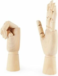 7/9/12 inch Left/Right Hand Model Jointed Articulated Wood Sculpture Mannequin