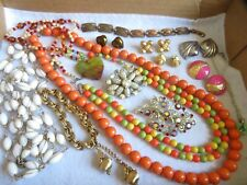 Vintage Jewelry Lot Necklace Brooch Earrings Rhinestones & More (644B)