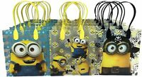 12pcs Minions Movie Birthday Party Favor Goodie Gift candy Bags supplies set