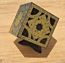 Hellraiser Puzzle Box Foil Face Cube Lament Configuration w/ Stand Pinhead Prop