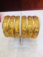 Indian Gold Plated  Bangles 2.10  Bracelet Ladies Jewellery Uk Seller Bollywood