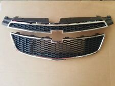 2PC Set 2011-2014 CHEVY CRUZE Front Bumper Upper & Lower Grille NEW PAIR